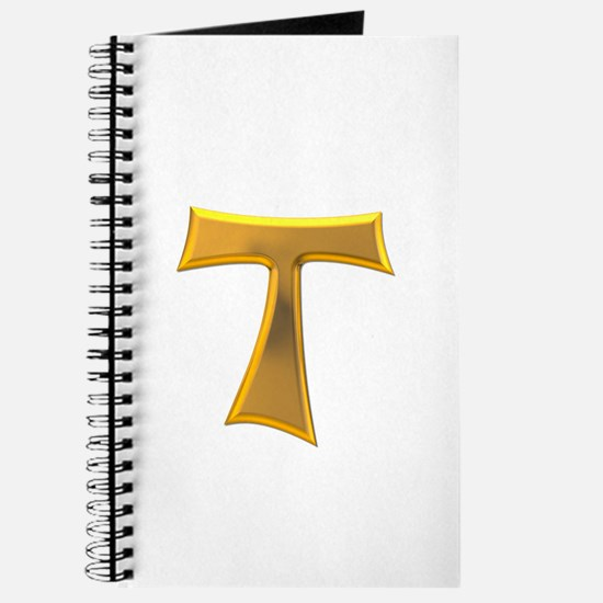 Golden Franciscan Tau Cross Journal