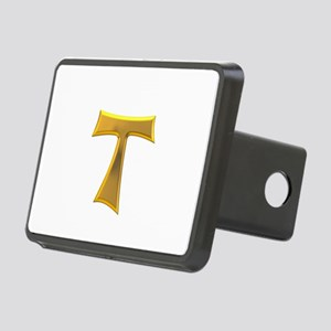 Golden Franciscan Tau Cros Rectangular Hitch Cover
