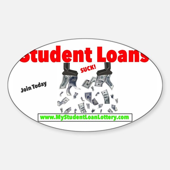 Student Loans Suck Sticker (Oval)