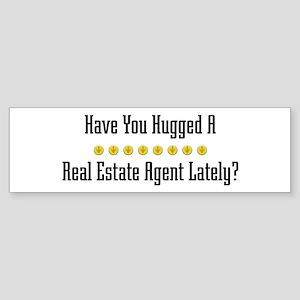 Hugged Real Estate Agent Bumper Sticker