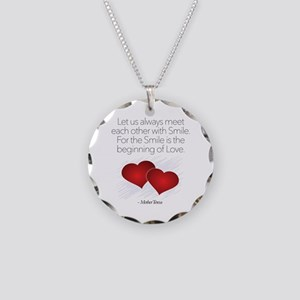 Meet With A Smile - Necklace Circle Charm