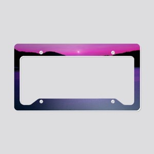 Moonrise Sunset License Plate Holder