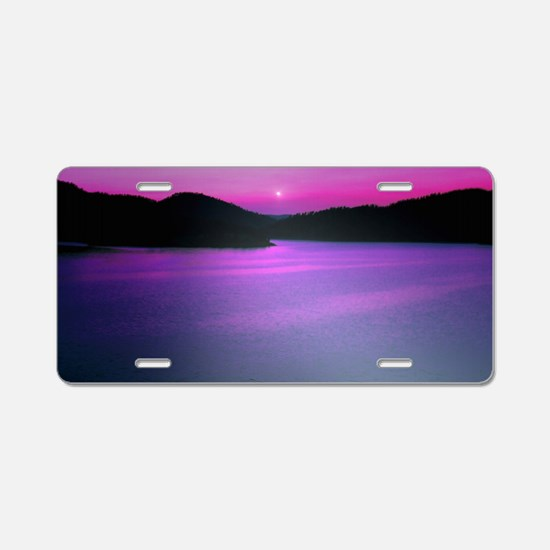 Moonrise Sunset Aluminum License Plate