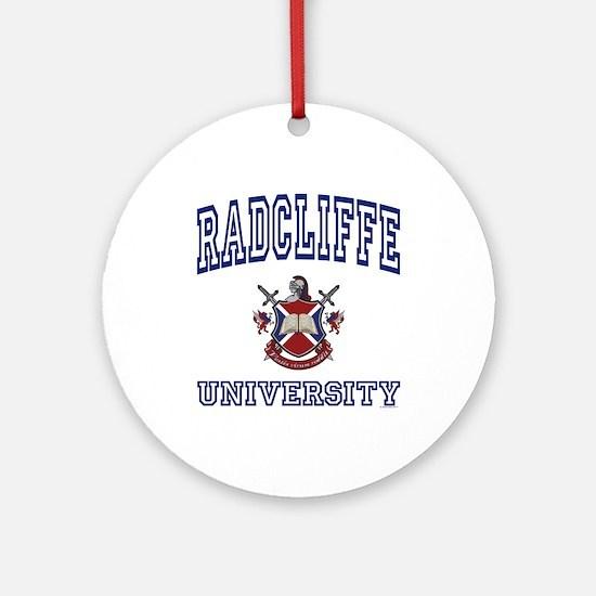 RADCLIFFE University Ornament (Round)