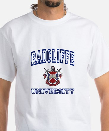 RADCLIFFE University White T-Shirt