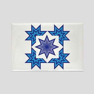 Native Blue Star Rectangle Magnet