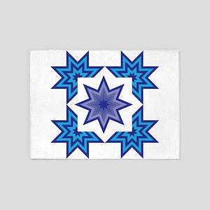 Native Blue Star 5'x7'Area Rug