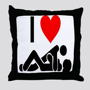 I love Sex Throw Pillow