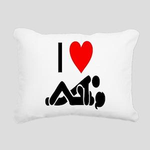 I love Sex Rectangular Canvas Pillow