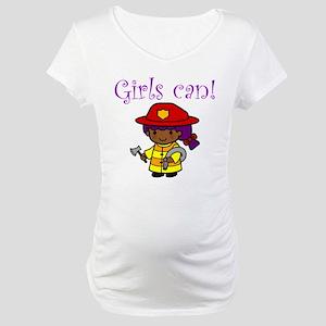 Girl Firefighter Maternity T-Shirt