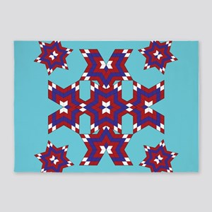 Red, White and Blue Star 5'x7'Area Rug