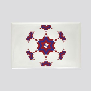Red, White and Blue Star 6 Rectangle Magnet