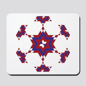 Red, White and Blue Star 6 Mousepad