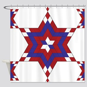 Red, White and Blue Star 6 Shower Curtain