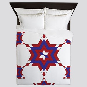 Red, White and Blue Star 6 Queen Duvet