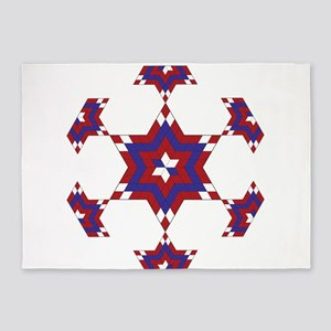 Red, White and Blue Star 6 5'x7'Area Rug