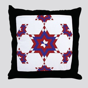 Red, White and Blue Star 6 Throw Pillow
