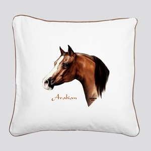 Arabian Horse Square Canvas Pillow