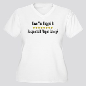 Hugged Racquetball Player Women's Plus Size V-Neck