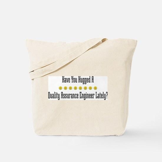 Hugged Quality Assurance Engineer Tote Bag