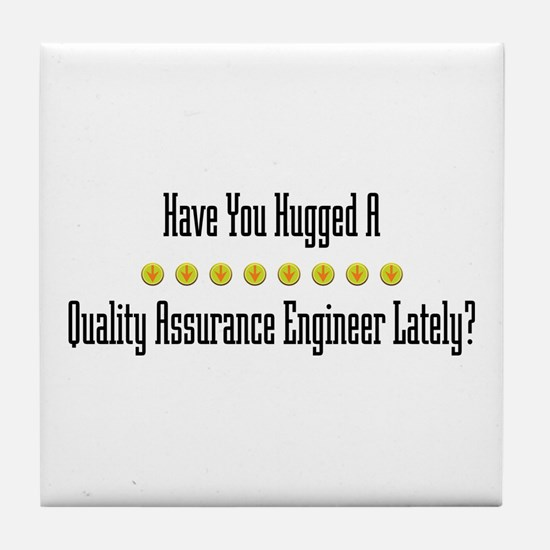 Hugged Quality Assurance Engineer Tile Coaster