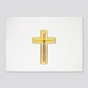Golden Cross 1 5'x7'Area Rug
