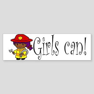 Girl Firefighter Bumper Sticker