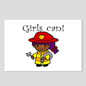 Girl Firefighter Postcards (Package of 8)