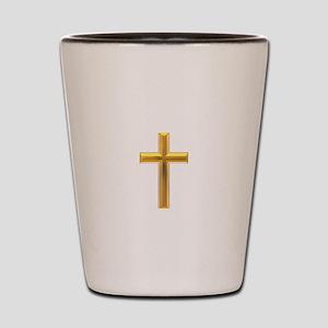 Golden Cross 2 Shot Glass