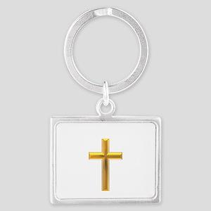 Golden Cross 2 Landscape Keychain