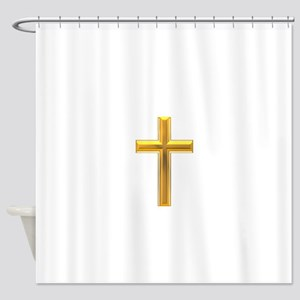 Golden Cross 2 Shower Curtain