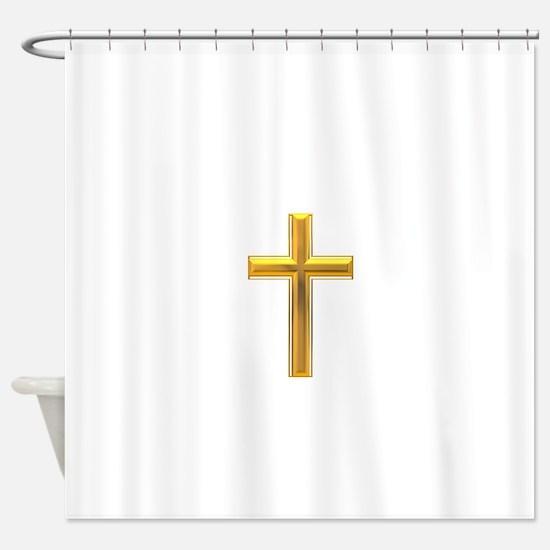 Golden Cross 2 Shower Curtain