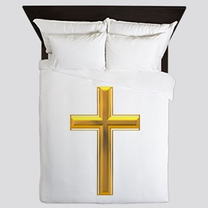 Golden Cross 2 Queen Duvet