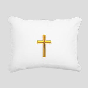 Golden Cross 2 Rectangular Canvas Pillow