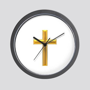 Golden Cross 2 Wall Clock