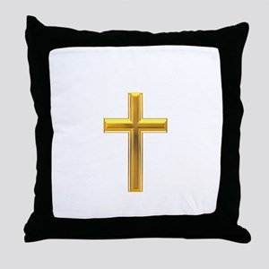 Golden Cross 2 Throw Pillow