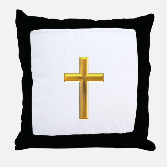 Golden Cross 2 Throw Pillow