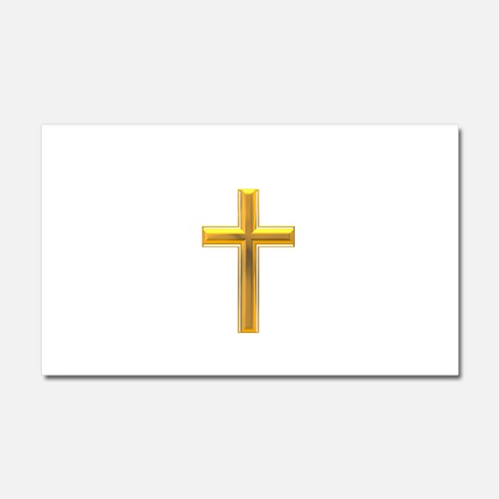 Golden Cross 2 Car Magnet 20 x 12