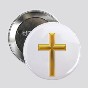 "Golden Cross 2 2.25"" Button (10 pack)"