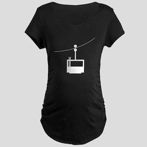 Ski Lift Maternity T-Shirt