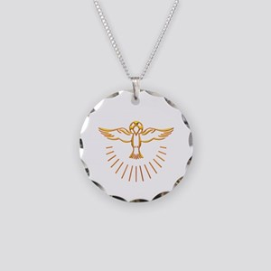 Ascent of The Holy Spirit Necklace Circle Charm