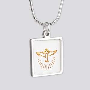 Ascent of The Holy Spirit Silver Square Necklace