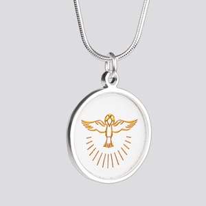 Ascent of The Holy Spirit Silver Round Necklace