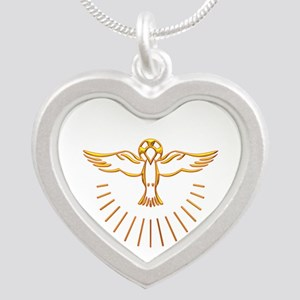 Ascent of The Holy Spirit Silver Heart Necklace