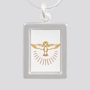 Ascent of The Holy Spir Silver Portrait Necklace