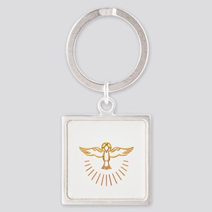 Ascent of The Holy Spirit Square Keychain