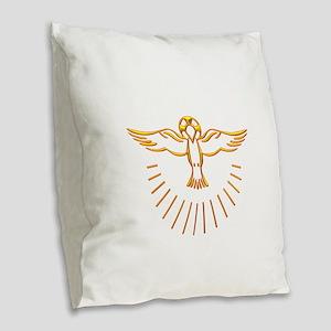 Ascent of The Holy Spirit Burlap Throw Pillow