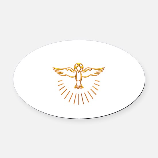 Ascent of The Holy Spirit Oval Car Magnet