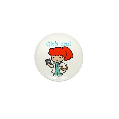 Girl Doctor Mini Button