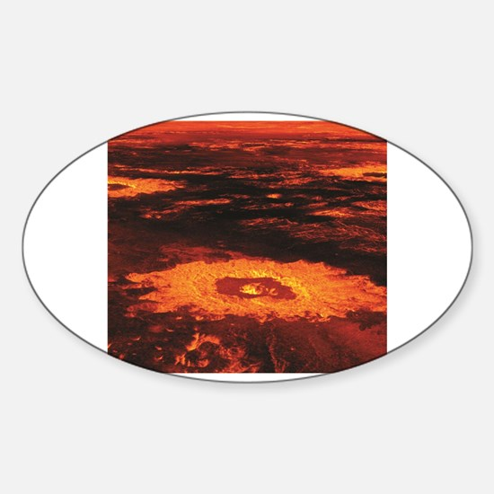 Funny Magma Sticker (Oval)